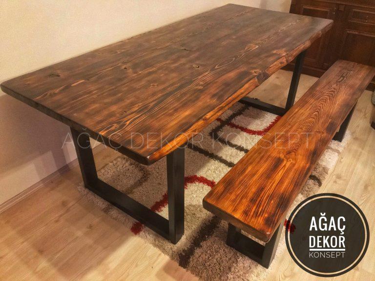 ahşap masa yemek masası